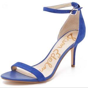 Sam Edelman Patti Blue Leather Suede Heels 6.5 B